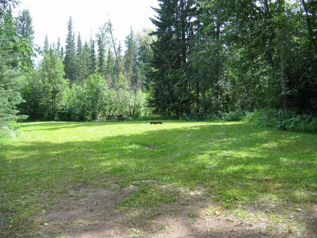 group camping site in valemount